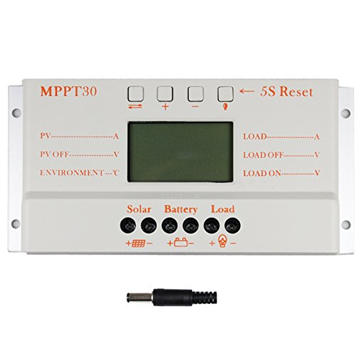 MPPT30 30A MPPT 12V24V Auto Switch LCD Display Solar Charge Controller Regulator