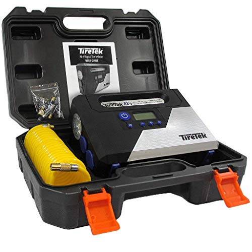 TireTek TT-303 RX-i Digital Car Tire Inflator Pump-12v Portable Air Compressor with Auto Shut Off