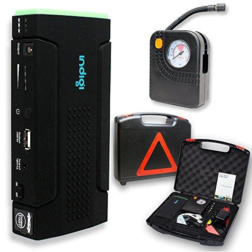 Indigi Powerful Car Jump Starter Mobile Charger Power Bank Emergency Battery Booster Tire Compressor Air Pump
