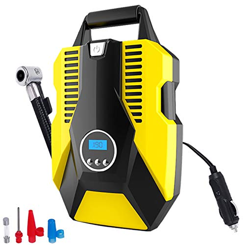 Portable Digital Air Compressor Tire Inflator for Car Tires Car Air Pump 150PSI DC 12V with LED LightAuto tire inflator for Car Bicycle Motorcycle Basketball and Other Inflatables