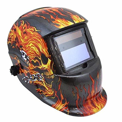 Flame Skull Solar Mma Arc Mig Mag Tig Plasma Darkening Lens Welding Ghost Helmet