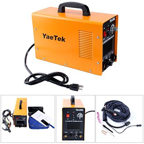 Yaetek 200 AMP DC Inverter TIG MMA ARC Welding Machine Welder for welding stainless steel  carbon steel -220V